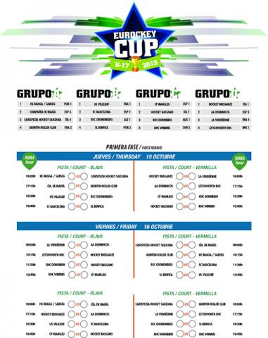 Eurockey Cup 17 - Conheça os adversarios do HC Braga