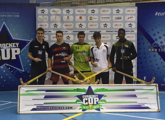 Eurockey 2015 - António Trabulo eleito para o melhor cinco do torneio